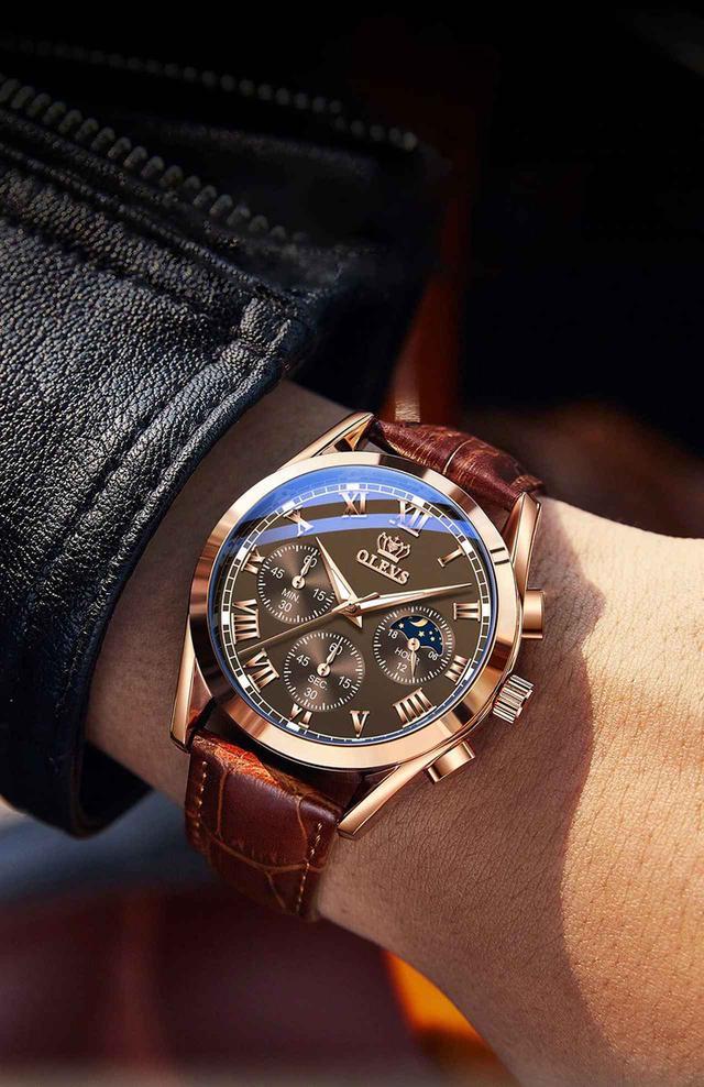 画像: OLEVS メンズ 腕時計