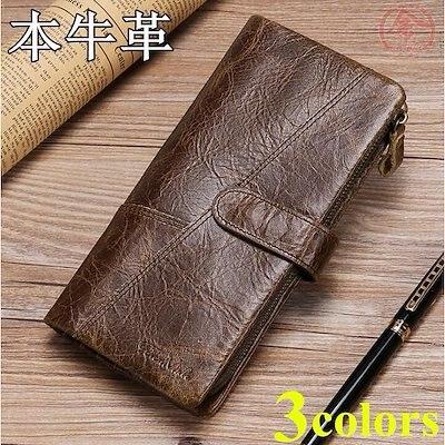 画像: [Qoo10] 財布 メンズ 長財布 本革 牛革 カード... : メンズバッグ・シューズ・小物