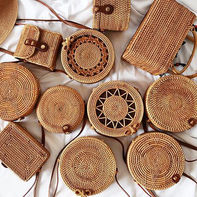 画像: [Qoo10] 2021夏人気新作 かごバッグ 手作り 可愛いバッグ ins 花柄 刺繍 クラシック 草編みバッグ 藤編みビーチバッグ 斜め掛け 女子ファッション流行