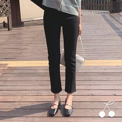 画像: [Qoo10] チェリーココ : ハイウエストストレートコットンコットンコ... : レディース服