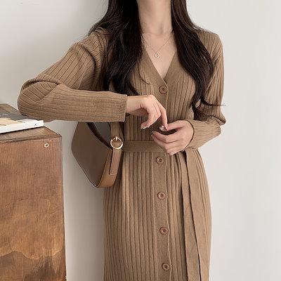 画像: [Qoo10] キャッシュタッチ フラット リブ ニット ops : 韓国ファッション キャッシュタッチ フラ... : レディース服