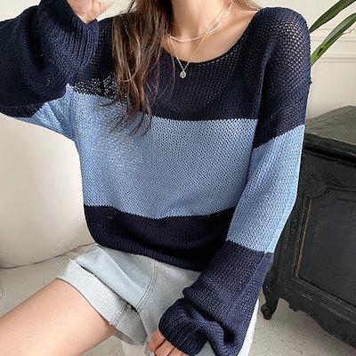 画像: [Qoo10] フアッションミール : ハドペ配色ニット韓国のファッションNO.... : レディース服