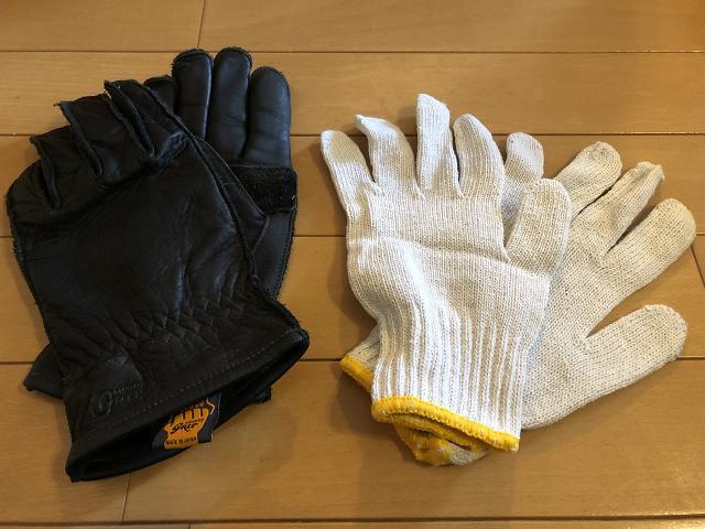 画像: 手袋:使い勝手が良い軍手は1つあれば便利
