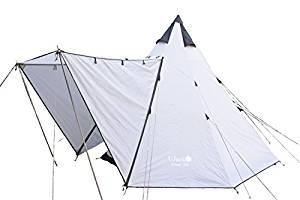 画像: Amazon   UJack(ユージャック) テント ワンポールテント インナーコットン Desert 300   UJack   テント本体