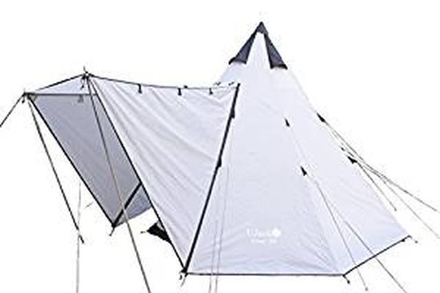 画像: Amazon | UJack(ユージャック) テント ワンポールテント インナーコットン Desert 300 | UJack | テント本体