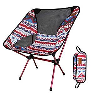 画像: Amazon   アウトドアチェア 折りたたみ 超軽量【耐荷重150kg】コンパクト イス 椅子 収納袋付属 お釣り 登山 携帯便利 キャンプ椅子 (ピンク D)   DesertFox   チェア・テーブルアクセサリー