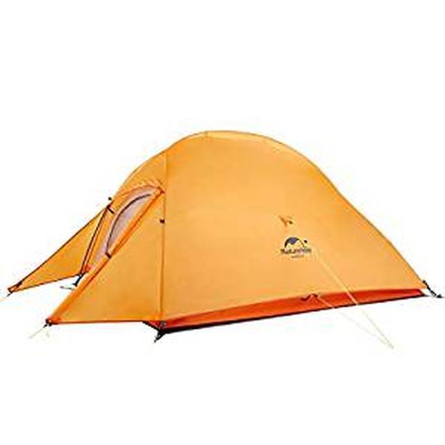 画像: Amazon   Naturehike公式ショップ テント 2人用 アウトドア 二重層 超軽量 4シーズン 防風防水 PU4000 キャンピング プロフェッショナルテント(専用グランドシート付) (オレンジ(210Tアップグレード版))   Naturehike   テント本体