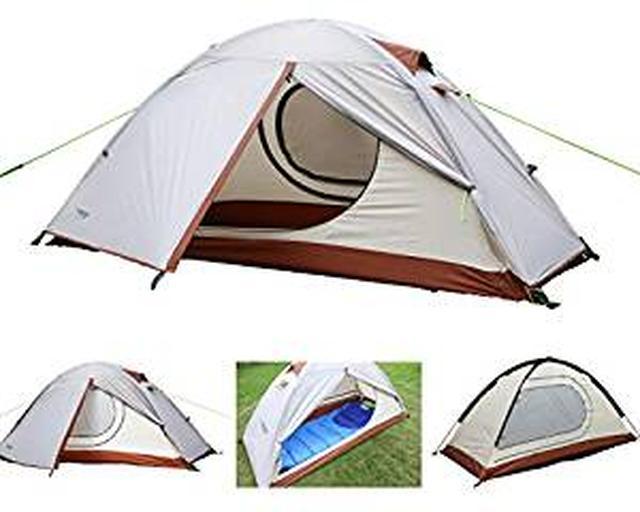 画像: Amazon   Luxe Tempo 1人用 テント2前室ソロキャンプテント登山 4シーズンに適用 軽量 アウトドア キャンプ用品 防水 グランドシートを送ります   Luxe Tempo   テント本体