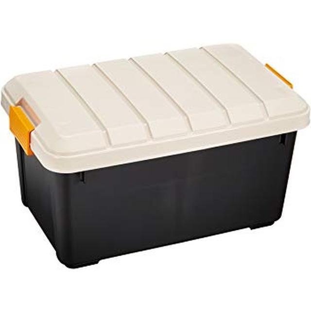 画像: Amazon | アイリスオーヤマ ボックス RVBOX 600 カーキ/ブラック 幅61.5×奥行37.5×高さ33cm 2個セット | ボックスタイプ