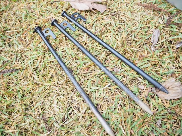 画像: 「スチール ソリッド テント ペグ ステーク」硬い地面でも使いやすいスチールペグ