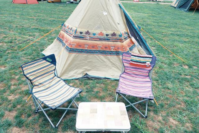 画像: 初キャンプの時。テントの張り方にも初心者感出てる…! futaricampguide.com