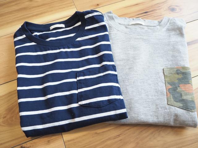画像: Tシャツ:左右共にGU(画像:筆者撮影)