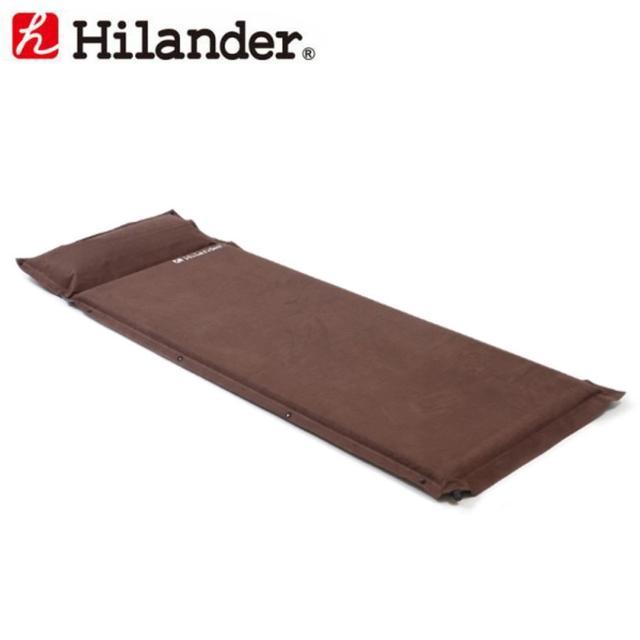 画像: 【楽天市場】【ほぼP5倍 4/15-4/16 AM1:59迄】 Hilander(ハイランダー) スエードインフレーターマット(枕付きタイプ) 5.0cm シングル ブラウン UK-2:ナチュラム 楽天市場支店