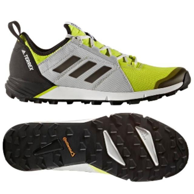 画像: アディダス(adidas) TERREX AGRAVIC スピードカラー セミソーラーイエロー/コアブラック/グレーTWO F17 S80863 メンズ トレイル ランニングシューズ