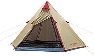 画像: Amazon   キャプテンスタッグ(CAPTAIN STAG) テント テント アルミワンポールテント 300UV UA-16 ティピー型 3~4人用 PU加工 ジュラルミンポール キャリーバッグ付き   キャプテンスタッグ(CAPTAIN STAG)   テント本体