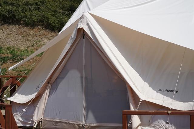 画像: 長く使用していると汚れが目立ちやすくなるノルディスクのテント。