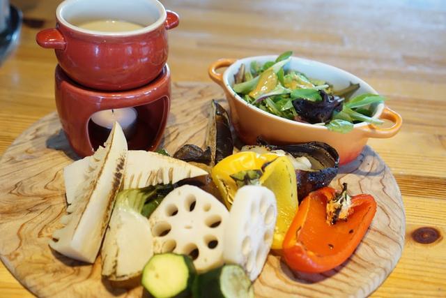 画像: ローストされた野菜が、どれもおいしい。