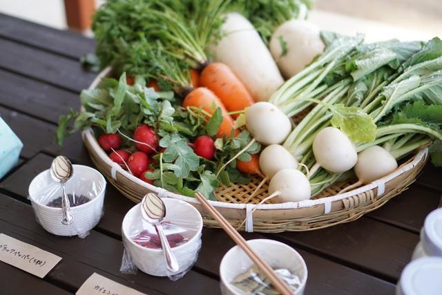 画像: 基本的にはこの農園で採れた野菜で作ります。この日、パプリカと大根のみ他から仕入れたとのこと。