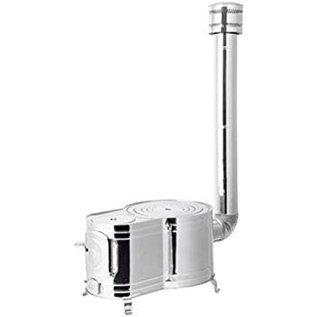 画像: Amazon | ホンマ製作所 ステンレス時計1型薪ストーブセット | 薪暖炉・薪ストーブ