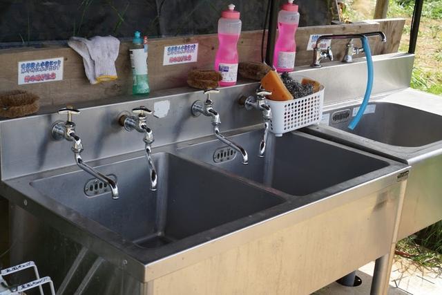 画像: お湯が出ると、汚れ落ちもすっきりです。