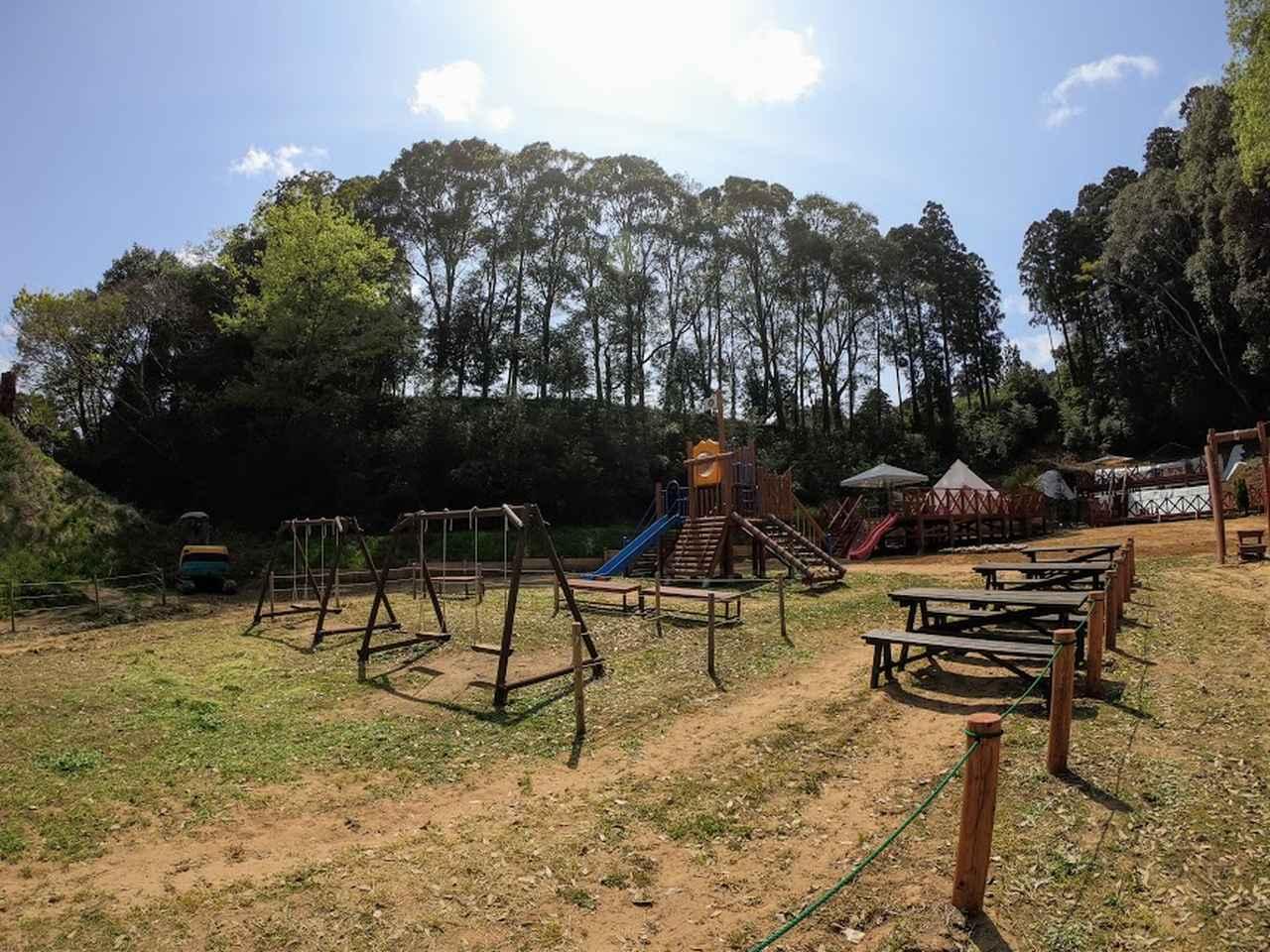 画像: こちらの遊び場は、どの施設に宿泊していても遊べます。
