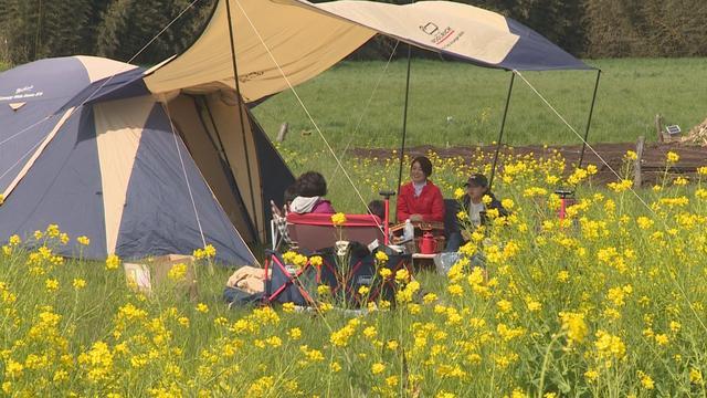 画像: 『一番星☆ヴィレッジ』でレンタルしたテントは一泊5,000円。このレンタル料にはインナーマット1枚、ペグ10本、ロープ10本、ハンマー1本も付いているそうです。説明書もあるので、初心者でも安心。