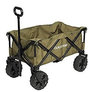 画像: Amazon | [クイックキャンプ] ワイドホイール アウトドアワゴン カーキ QC-CW90 集束式 折りたたみ式 キャリーカート キャリーワゴン | クイックキャンプ | キャリーカート