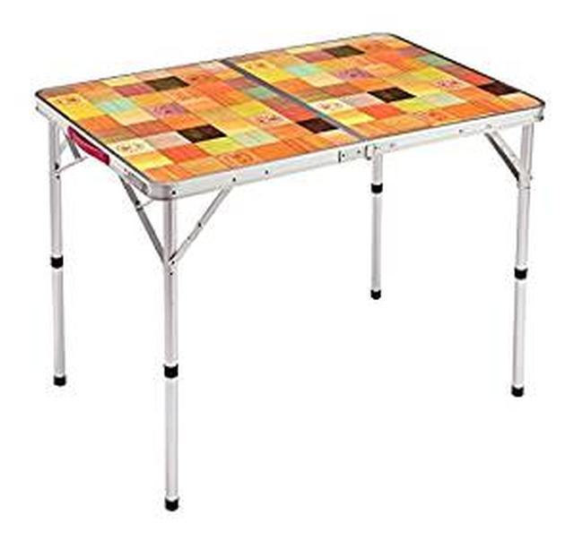 画像: Amazon   コールマン(Coleman) テーブル ナチュラルモザイクリビングテーブル 90プラス 2000026752   コールマン(Coleman)   テーブル