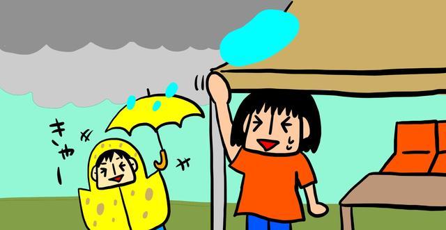 画像: どうしても遊びたい? タオルと着替えを準備して雨の中遊ぼう!