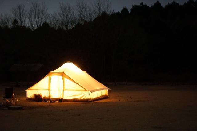 画像: テントで寝るのは、毎回わくわくします 筆者撮影