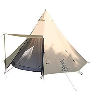 画像: Amazon   DOD(ディーオーディー) ビッグワンポールテント 8人用 ナチュラルシリーズ T8-200T   DOD(ディーオーディー)   テント本体