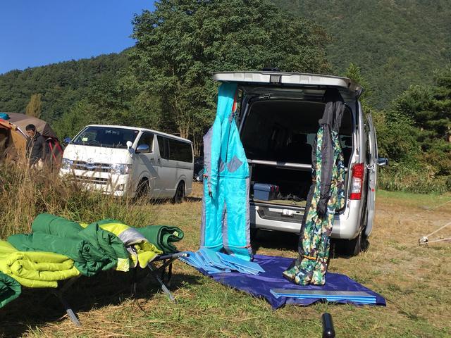 画像: 西湖自由キャンプ場にて:筆者撮影
