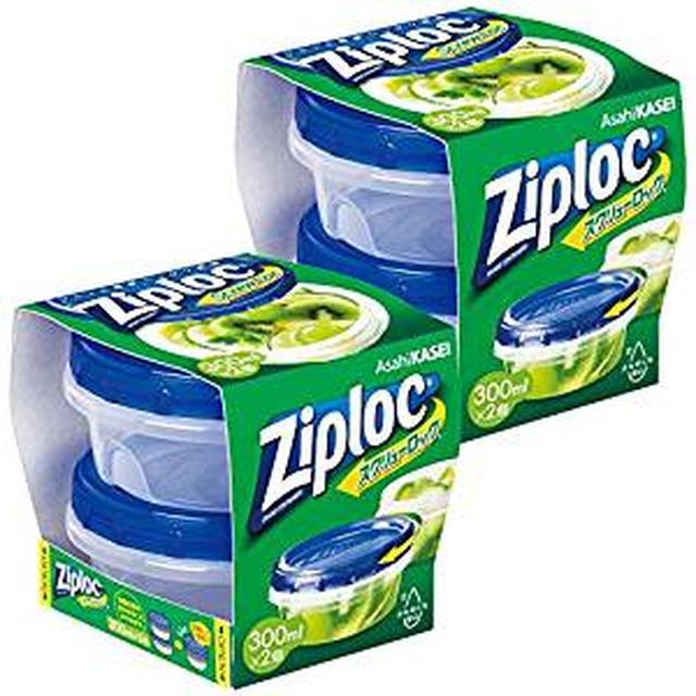 画像: Amazon | 【まとめ買い】 ジップロック スクリューロック 保存容器 300ml (2個入)×2個 | ジップロック | 保存用バッグ・ポリ袋