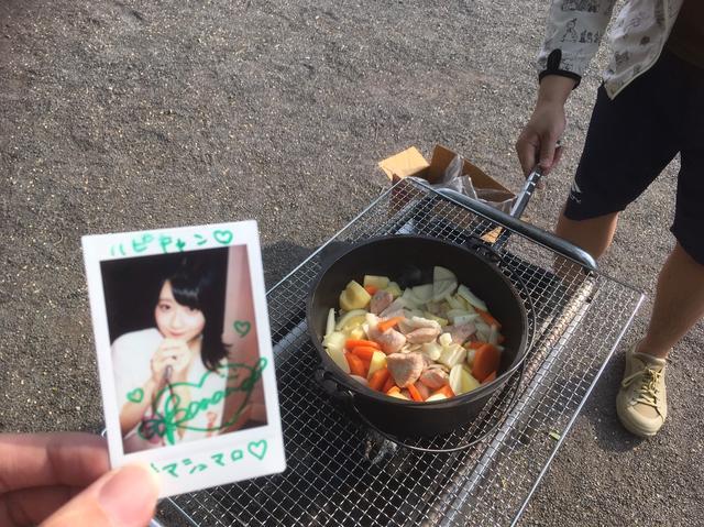 画像: 筆者撮影   高杉(心の声)「カレーは先輩に任せて、焼きマシュマロ食べようね」