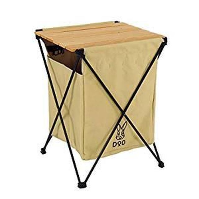 画像: Amazon.co.jp: DOD(ディーオーディー) ステルスエックス ゴミを隠すゴミ箱 6種類分別 テーブル機能付き GM1-450-TN: スポーツ&アウトドア