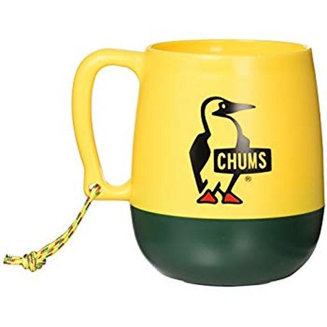 画像: Amazon.co.jp: チャムス(CHUMS) 食器 ビッグラウンドキャンパーマグ CH62-1047-Y039-00 イエロー/グリーン: スポーツ&アウトドア