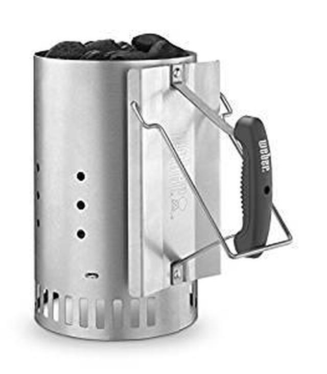 画像: Amazon | Weber(ウェーバー) 煙突効果 火起こし器 炭 着火 大きい ラピッドファイヤーチムニースターター 7416 【日本正規品】 | ウェーバー(Weber) | 炭トング・BBQツール