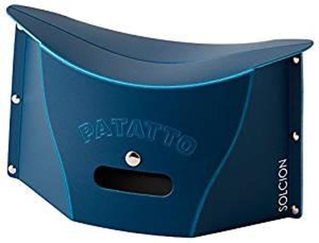 画像: Amazon|SOLCION 折りたたみ椅子 PATATTO mini (パタット ミニ) 高さ15cm ネイビー PM003|折りたたみチェア オンライン通販