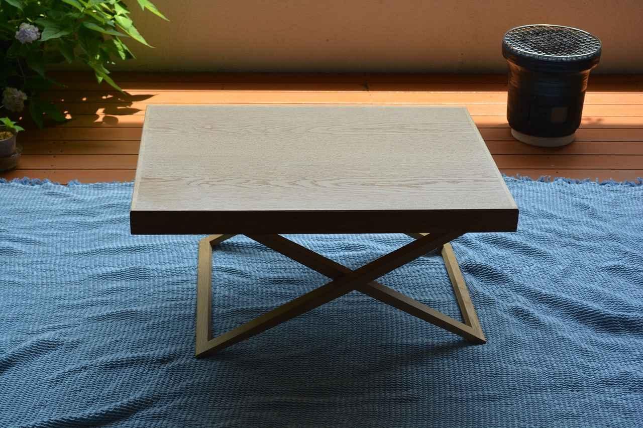 画像1: ベランダでバーベキューをする際のテーブルコーディネート方法 マルチクロスを机に敷くのが、雰囲気作りにおすすめ!