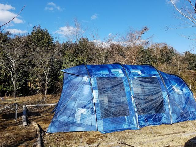 画像: 編集部撮影 ※写真はコールマン / デニム柄プリントを施したテント