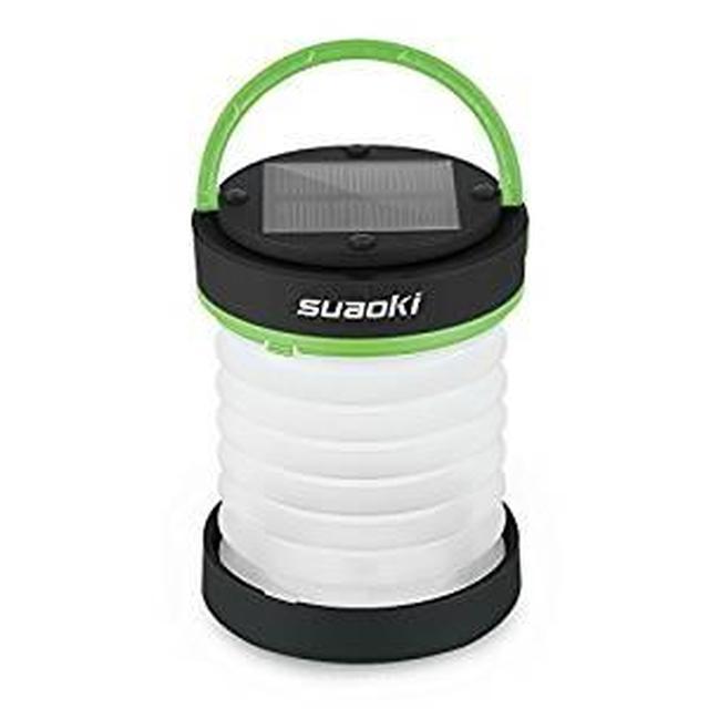 画像: Amazon | suaoki 3WAY高輝度LEDランタン ソーラーライト 懐中電灯 電池不要 USB充電 アウトドアや災害時の備えに グリーン | Suaoki | ランタン