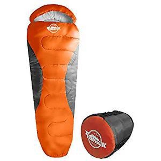 画像: Amazon | WIBERTA(ウィベルタ) 寝袋 シュラフ コンパクト スリーピングバッグ 軽量 マミー型 丸洗い可能 収納袋付き 最低使用温度-5度 オレンジ | WIBERTA(ウィベルタ) | 寝袋・シュラフ