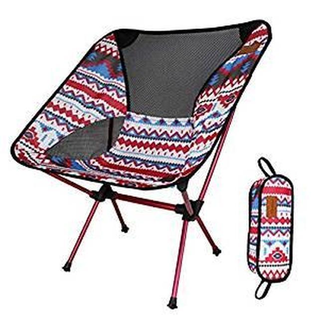 画像: Amazon | アウトドアチェア 折りたたみ 超軽量【耐荷重150kg】コンパクト イス 椅子 収納袋付属 お釣り 登山 携帯便利 キャンプ椅子 (ピンク D) | DesertFox | チェア・テーブルアクセサリー