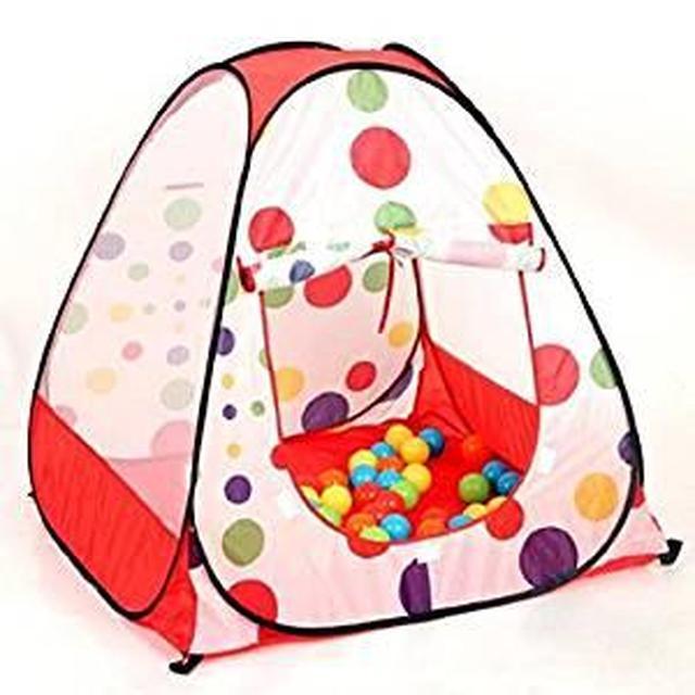 画像: Amazon | JISILI テント 子供用ボールハウス 専用収納ケース付き キッズ 幼児 ベビー用 室内 室外 テント 秘密基地 | キッズテント | おもちゃ
