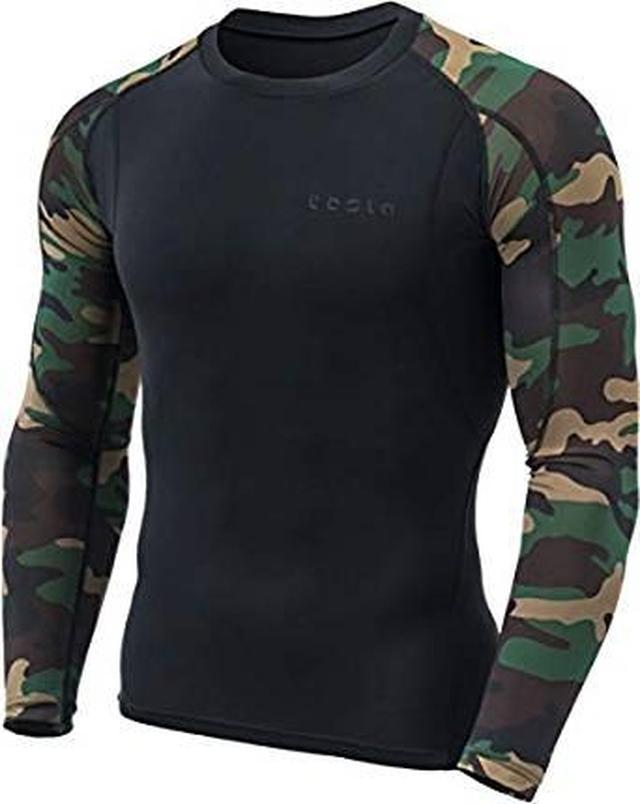 画像: Amazon | (テスラ)TESLA メンズ オールシーズン 長袖 ラウンドネック スポーツシャツ [UVカット・吸汗速乾] MUD | コンプレッショントップス 通販