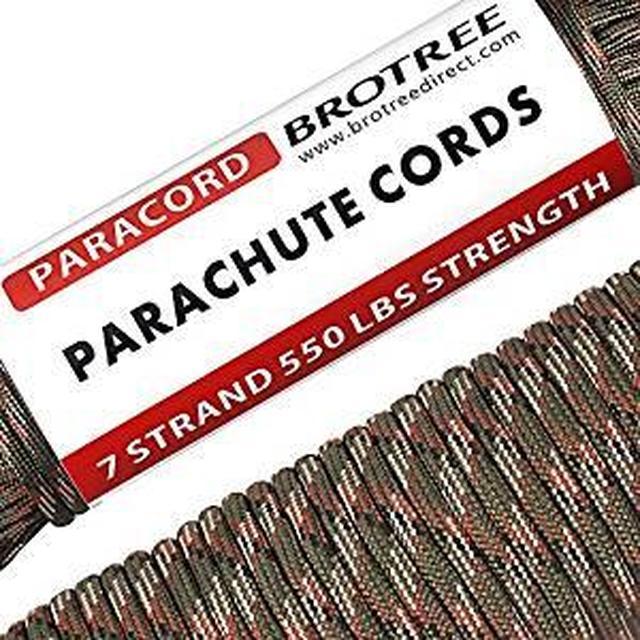 画像: Amazon | Brotree パラコード 4mm 7芯 テント ロープ ガイロープ ミルスペック 耐荷重250kg アウトドア キャンプ サバイバル固定用 (30m / 50m) | Brotree | ロープ(張り綱)