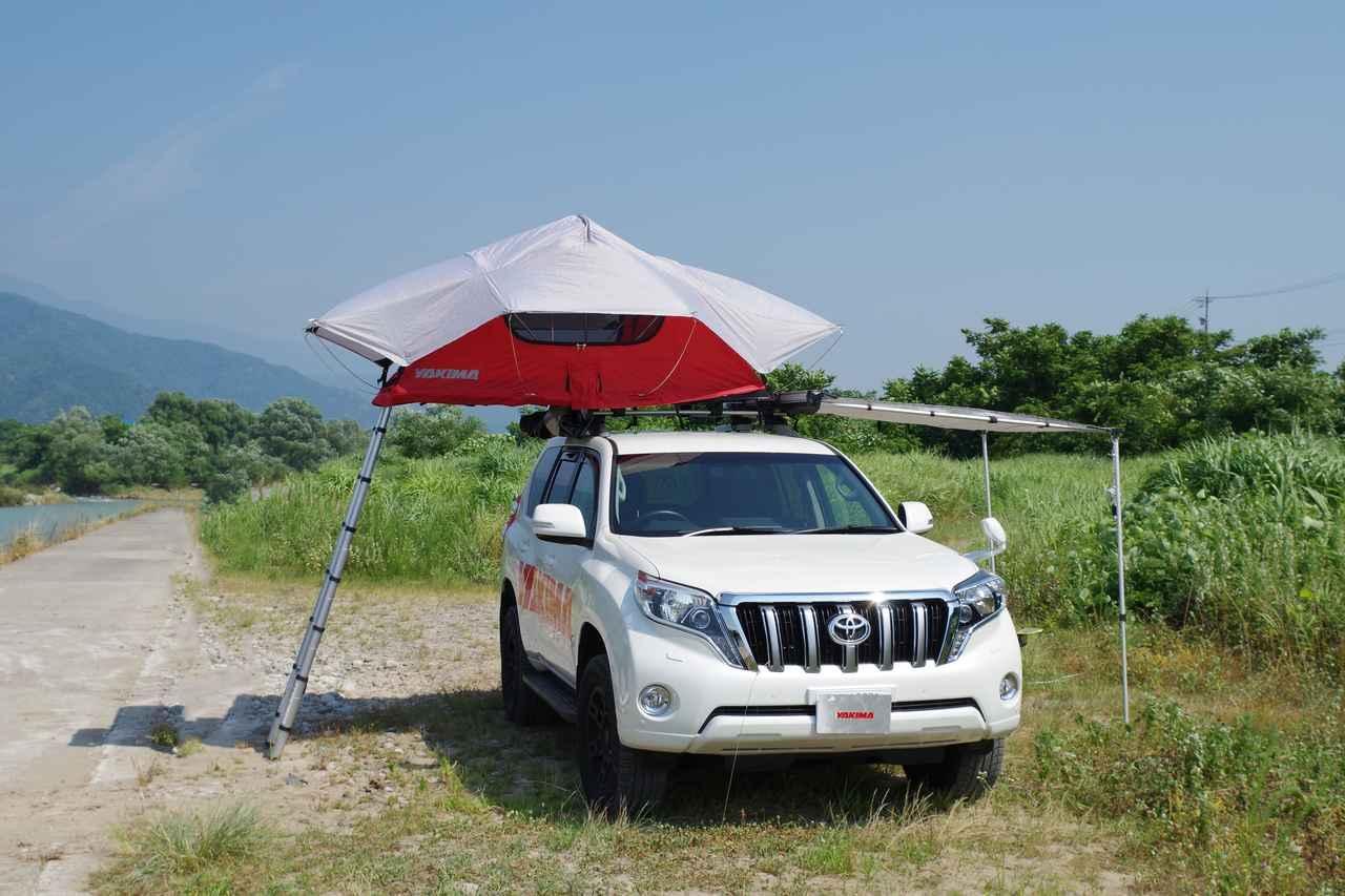 画像1: キャンプ初心者必見!「YAKIMA」のルーフトップテント おすすめポイントと使い方をご紹介! - ハピキャン(HAPPY CAMPER)