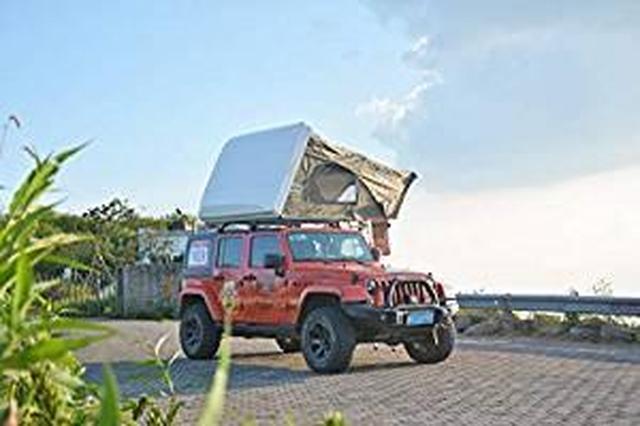 画像: Amazon | 『CampGear正規品』最大4人まで泊まれるファミリールーフトップテント ハシゴを引くだけの簡単設営! | CampGear(キャンプギア) | テント本体