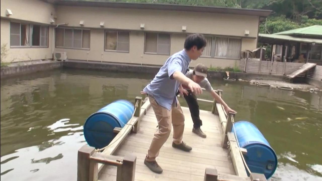 画像: アウトドア・ベース 犬山キャンプ場 いかだボート デルサタ2019年7月20日放送動画より