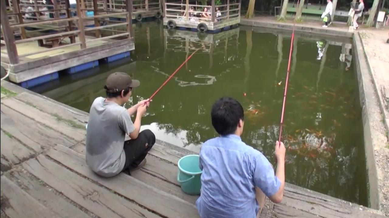画像: アウトドア・ベース 犬山キャンプ場 ファミリー釣り堀 デルサタ2019年7月20日放送動画より
